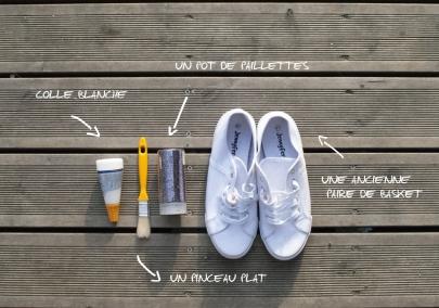 Matos chaussure pailette