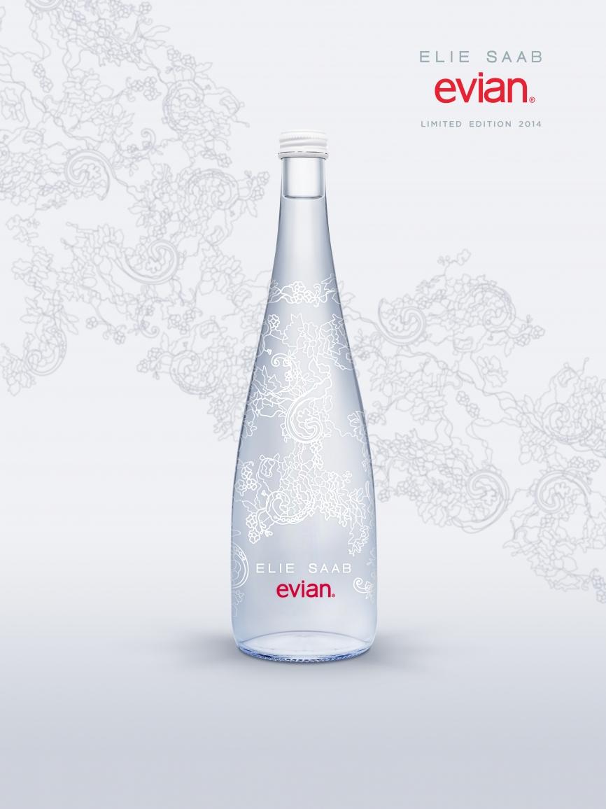 Populaire evian x ELIE SAAB: bouteille édition limitée 2014 XN49