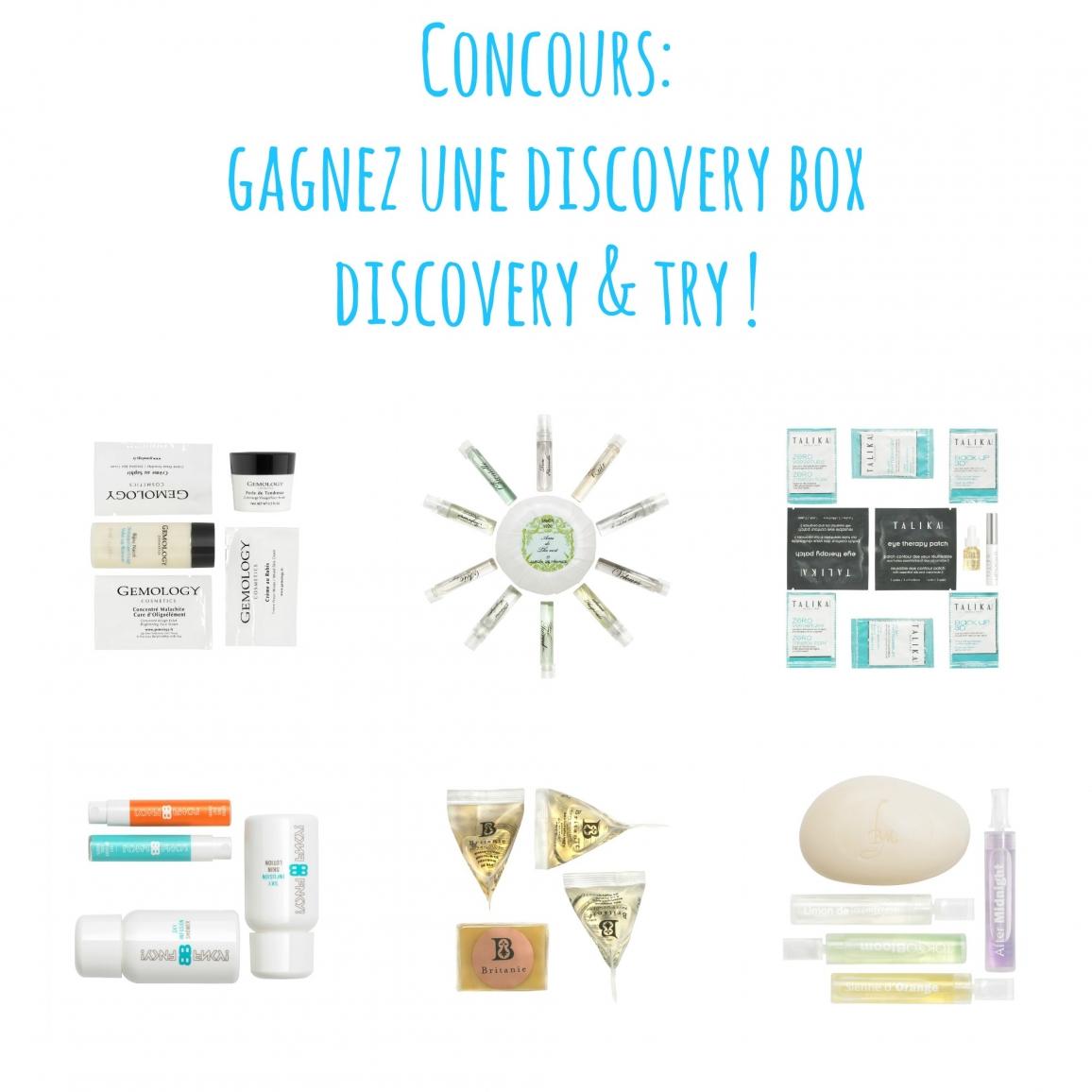 discover try un nouveau concept de box beaut. Black Bedroom Furniture Sets. Home Design Ideas