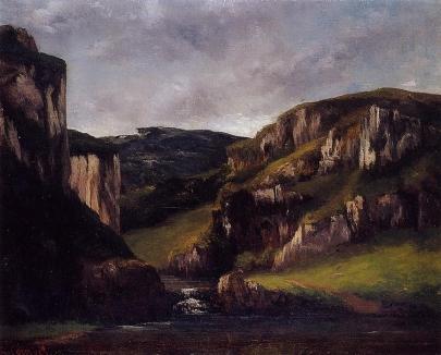 Gustave-Courbet-Falaises-pres-Ornans
