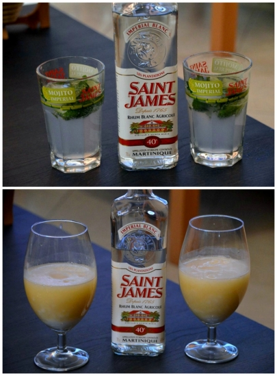 saint james mojito pina colada