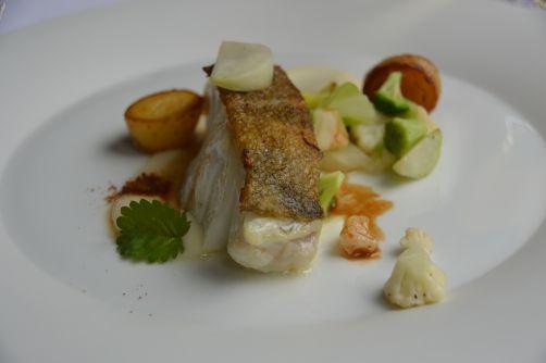 Un plat de poisson classique mais réussi préparé par Pascal Devalkeneer au Chalet de la Forêt en août 2014
