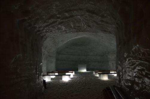 """Une chappelle dans un glacier... Petit aperçu de la """"Ice Cave"""""""