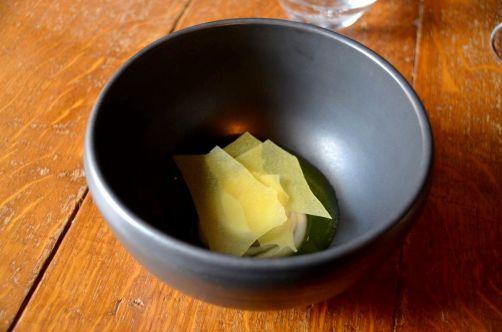 Pré-dessert: yaourt, pommes