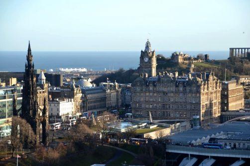 The Balmoral vu depuis le Château d'Edimbourg