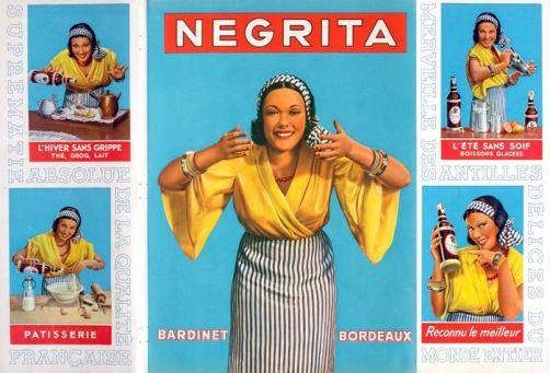 Une vieille publicité pour le rhum Negrita... déjà à l'époque, on l'utilisait en cuisine !