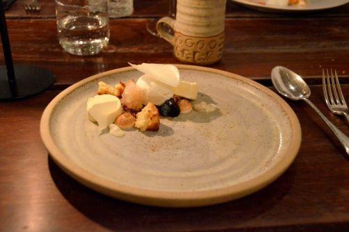 Sweet (dessert):lait, noix,miel, oeuf, reine des prés,foin, stout