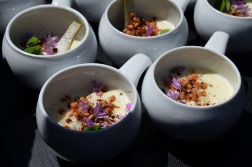 Artichaut, émulsion de pomme de terre fumée, sarrasin et malt - Philippe Fauchet