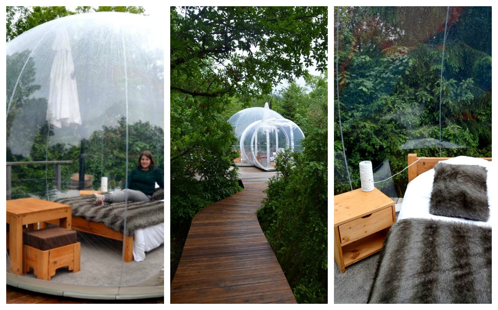 h bergement insolite dormir dans une bulle transparente. Black Bedroom Furniture Sets. Home Design Ideas