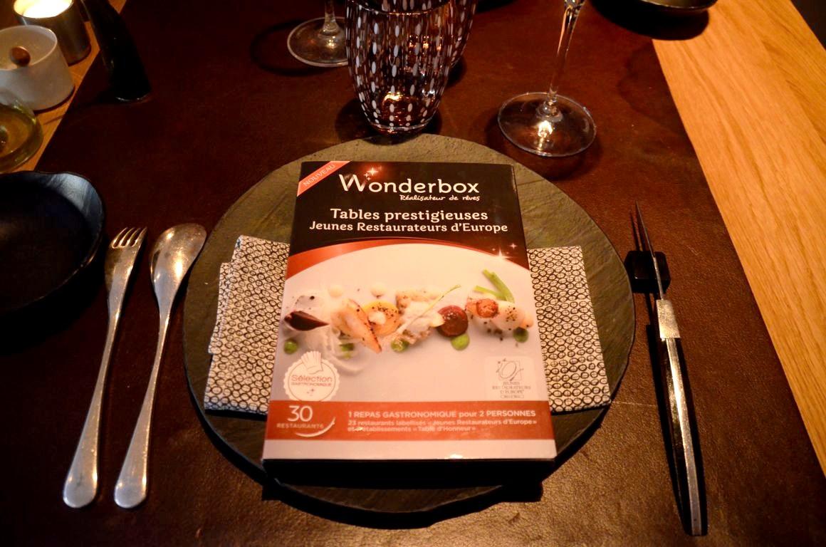 Table Repas 2 Personnes wonderbox tables prestigieuses jeunes restaurateurs d'europe